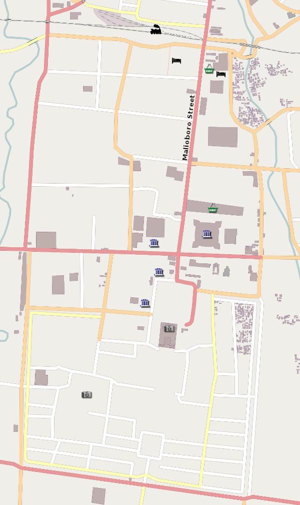 Map of Yogyakarta - Asia for Visitors