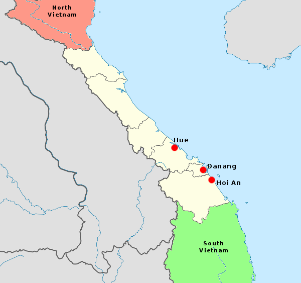 North Vietnam And South Vietnam Map.Central Vietnam Asia For Visitors